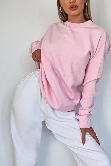 Pink Basic Crew Neck Sweat