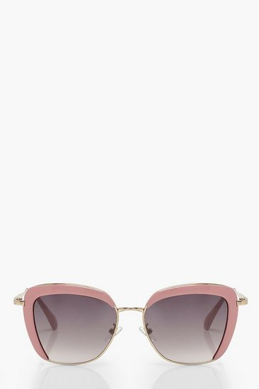 Pink Framed Oversized Sunglasses