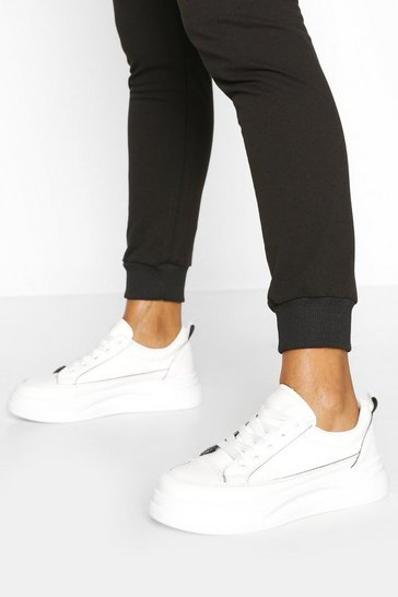 Black Platform Retro Trainers