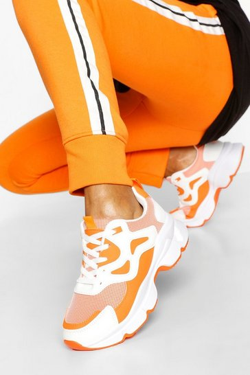 Orange Chunky Mesh Panel Trainer