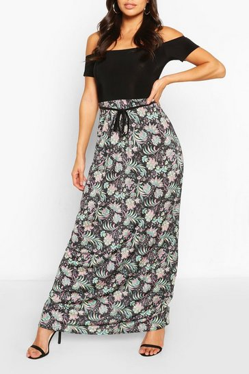 Multi 2in1 Paisley Bardot Maxi Dress
