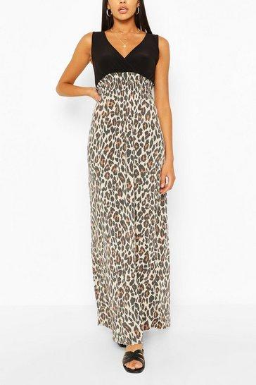 2 in 1 Leopard Maxi Dress