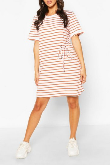 Amber Striped T-shirt Dress