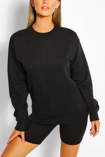 Black Recycled Oversized Sweatshirt
