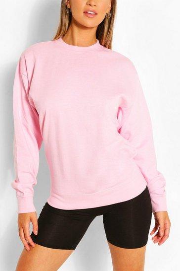 Pink Recycled Oversized Sweatshirt