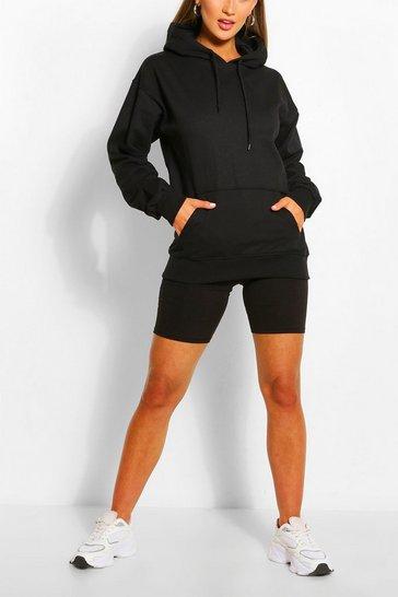Black Basic Oversized Hoodie