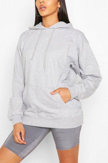 Grey Basic Oversized Hoodie