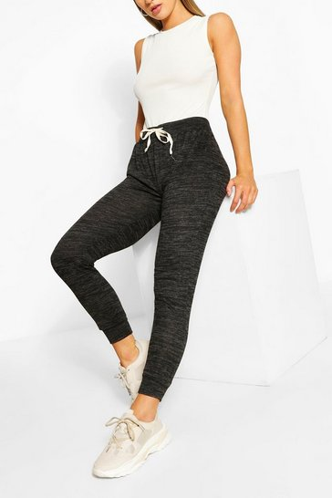 Black Marl Relaxed Joggers