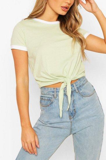 Pistachio Contrast Colour T-Shirt