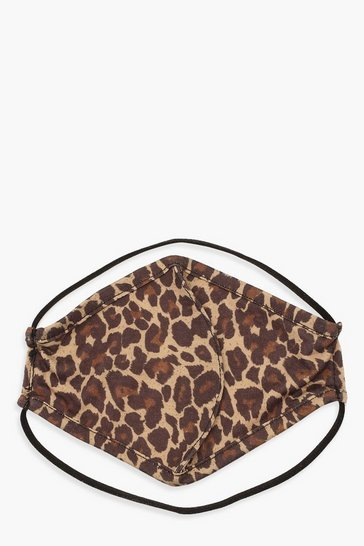 Brown Leopard Fashion Face Mask