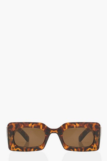 Animal Chunky Rectangle Sunglasses