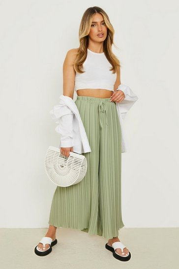 Pleated Longline Woven Trousers