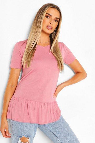 Pink Short Sleeve Smock TShirt