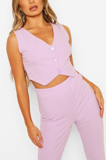 Lilac Tailored Waistcoat