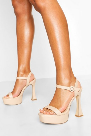 Nude Platform Peepoe Stiletto Heels
