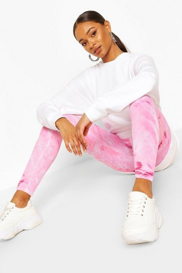 Pink Pastel Tie Dye Leggings