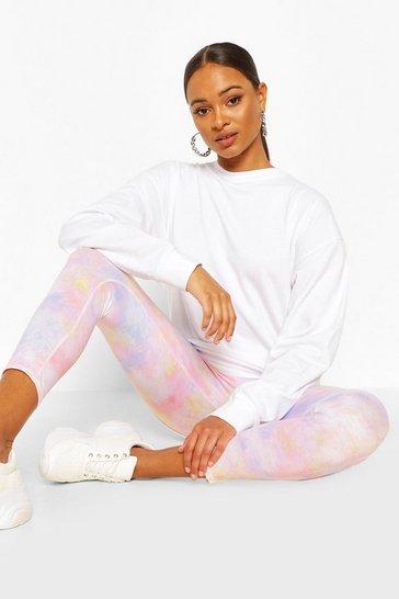 Peach Pastel Tie Dye Leggings
