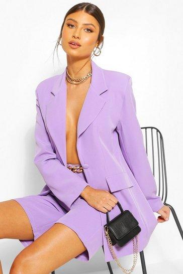 Lilac Cut Away Tailored Blazer
