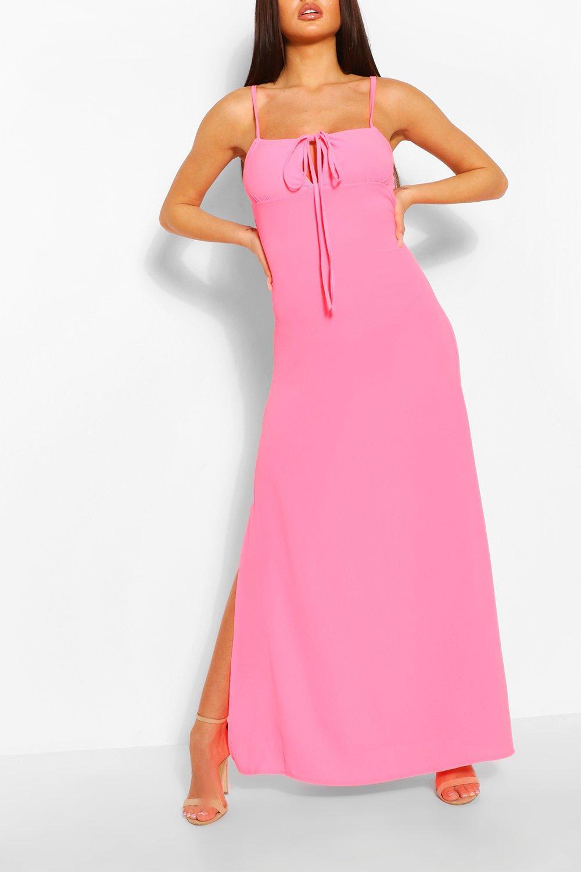 Boohoo Strappy Tie Detail Maxi Dress