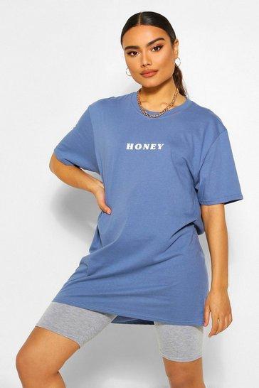 Indigo Honey Slogan T-Shirt