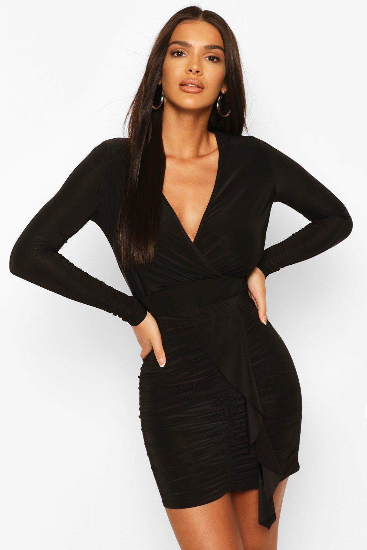 boohoo Womens Neon Wrap Bodysuit - Black - 8, Black