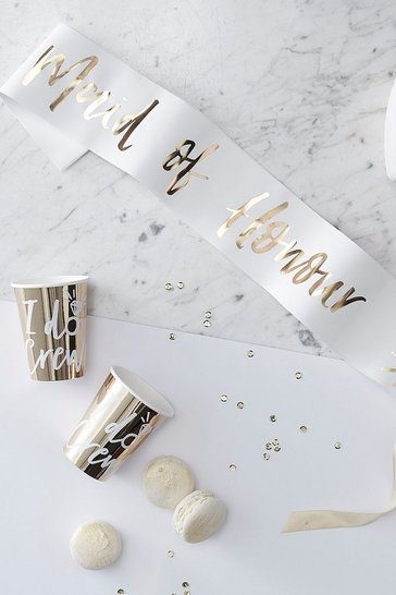 Gold Ginger Ray Maid Of Honour Foil Sash