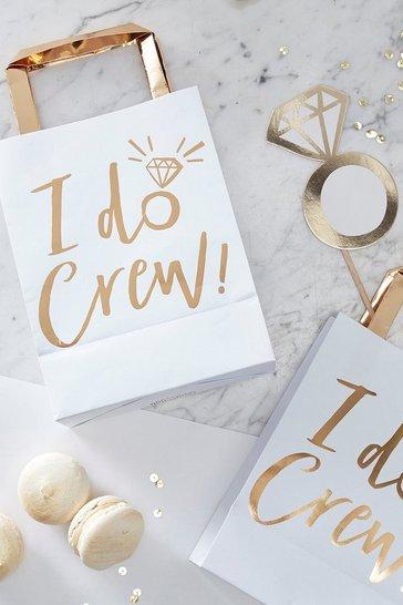 Gold Ginger Ray I Do Crew Foil Gift Bag 5 Pack