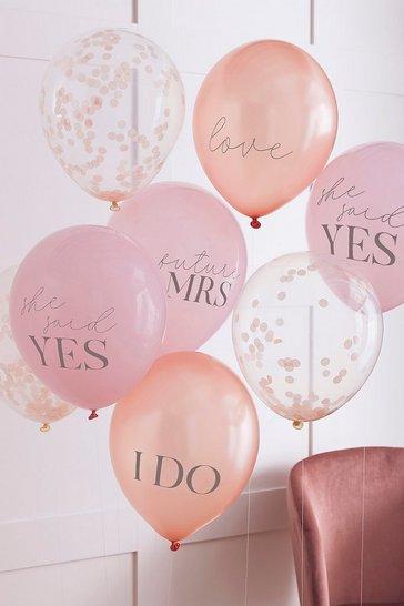 Pink Ginger Ray Slogan Hen Party Balloons