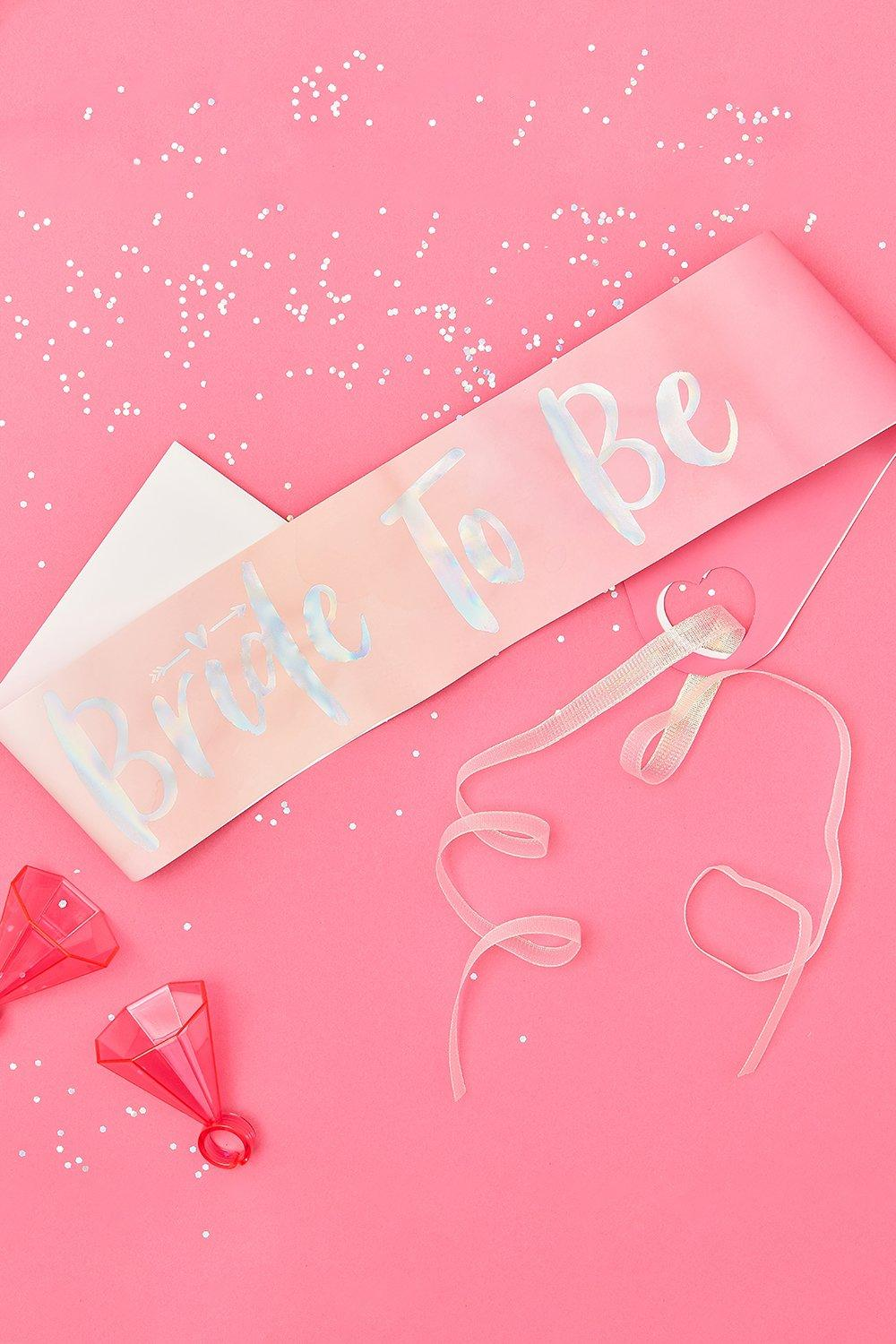 boohoo Womens Ginger Ray Bride To Be Sash - Pink - One Size, Pink