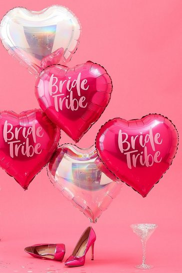 Pink Ginger Ray Bride Tribe Foil Balloons