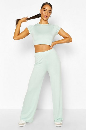 Mint High Waist Wide Leg Trouser
