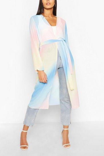 Blush Pastel Ombre Maxi Kimono