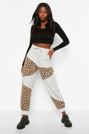 Grey Mix & Match Leopard Jogger