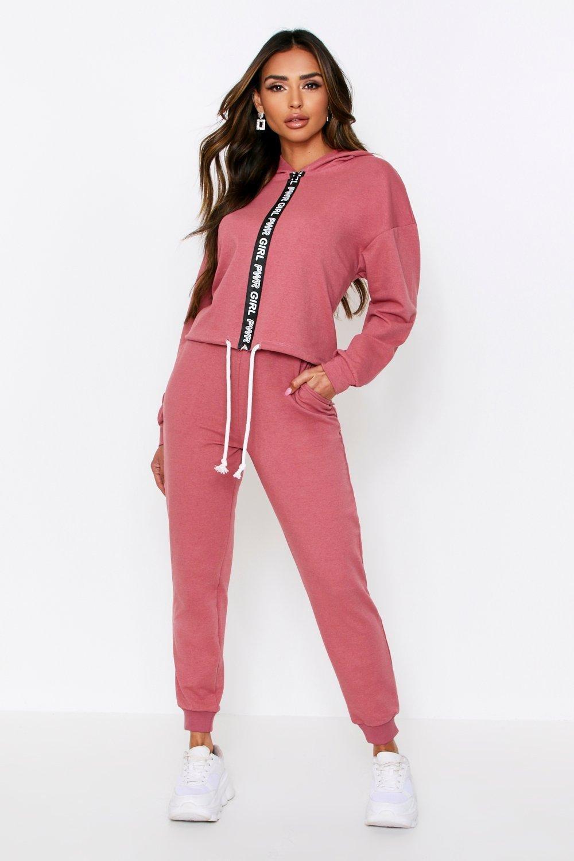Sale Nightwear Girl power zip front lounge set