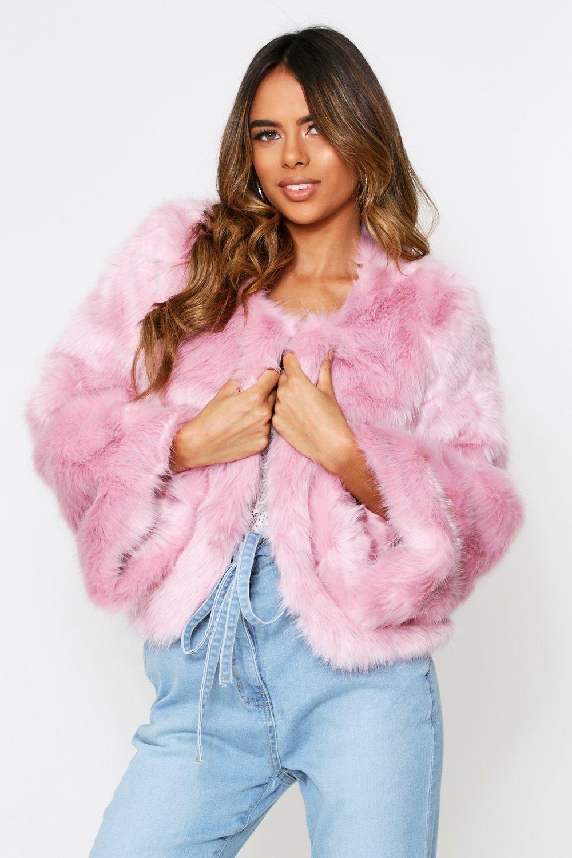 SALE Faux Fur Cropped Jacket
