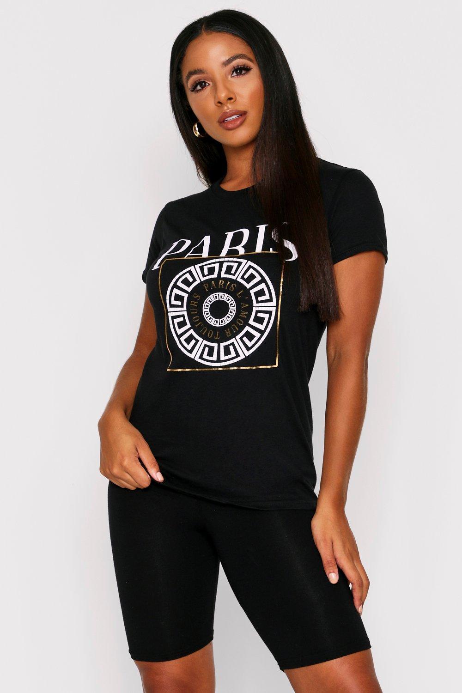 Sale Tops Paris Crest Foil T-Shirt