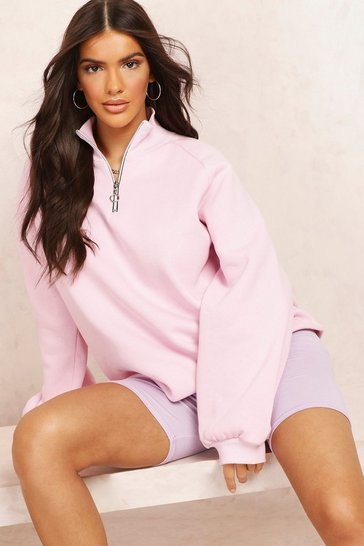 Rose Mix & Match 1/2 Zip Sweat Dress