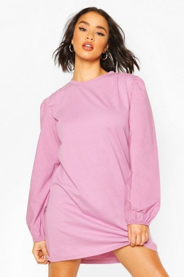 Rose Elasticated Sleeve T-Shirt Dress
