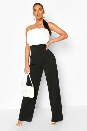 Black Colourblock Jumpsuit