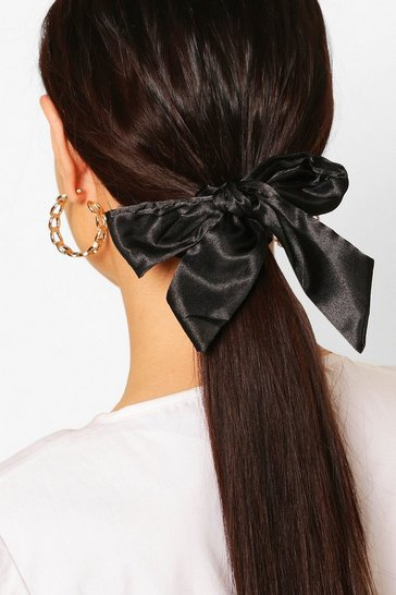 Black Bow Detail Scrunchie 2 Pack