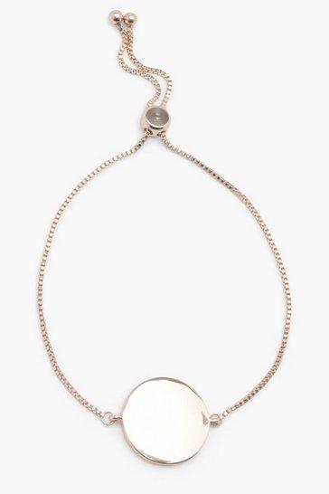Gold Sliding Clasp Coin Bracelet