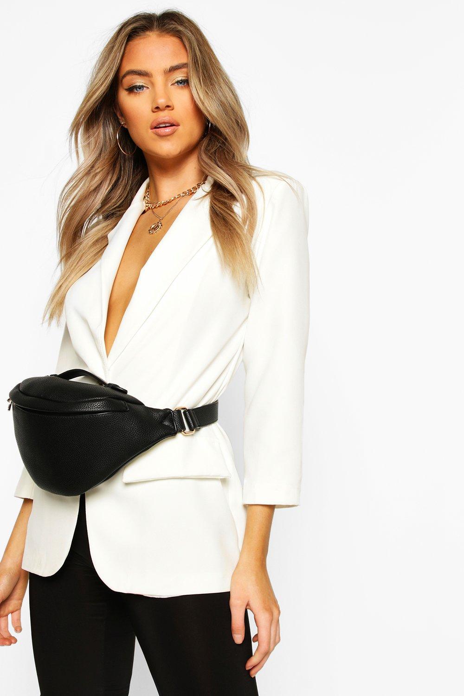 boohoo Womens Slouch Oversized Bum Bag - Black - One Size, Black