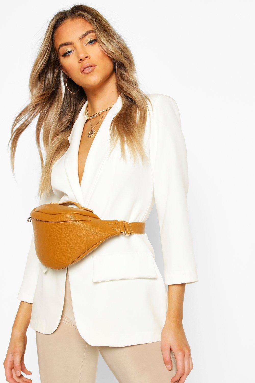 boohoo Womens Slouch Oversized Bum Bag - Beige - One Size, Beige