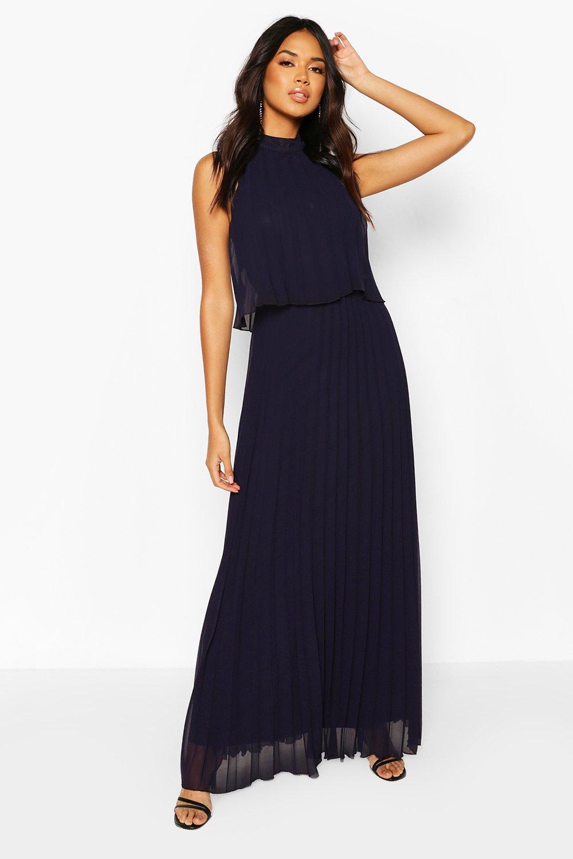 Двухслойное платье макси со складками из коллекции Boohoo одежда для мероприятий фото