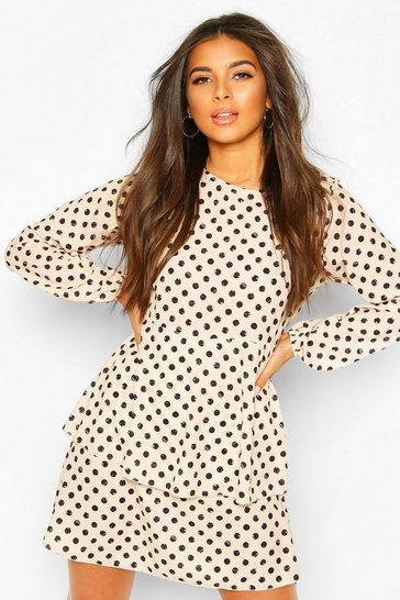 Ivory Polka Dot Smock Dress