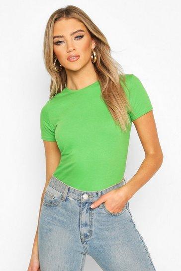 Green 100% Cotton Crew Neck T-Shirt