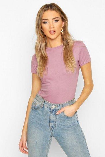 Violet 100% Cotton Crew Neck T-Shirt