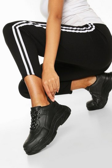 Black Chunky Platform Trainers