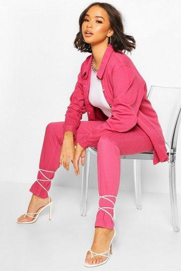 Pink High Waist Mom Jean