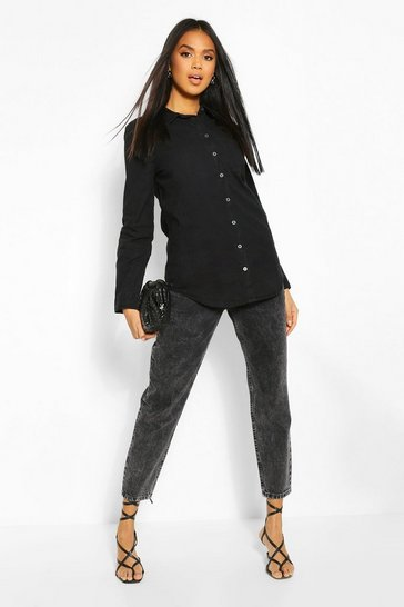Black Oversized Denim Shirt